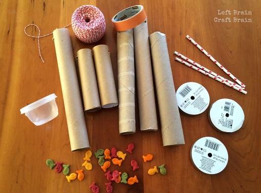 Goldfish cracker pulley supplies Left Brain Craft Brain