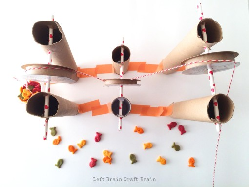 Goldfish crackers Pulley from Above Left Brain Craft Brain