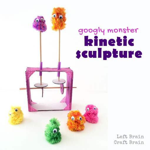 Googly Monster Kinetic Sculpture Left Brain Craft Brain FB