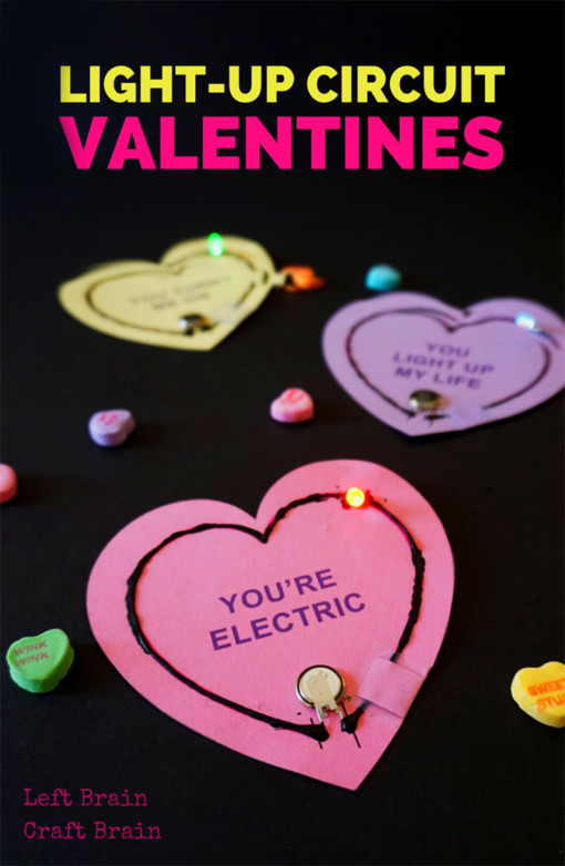 Updated Light Up Circuit Valentines Left Brain Craft Brain