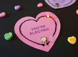 UPDATED: Light Up Circuit Valentines