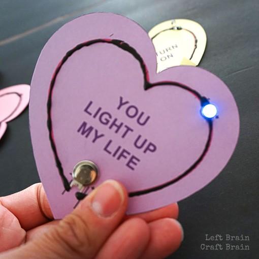 Light up Valentines Left Brain Craft Brain