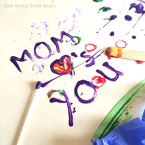 Mom Loves You Paint Doctor Left Brain Craft Brain