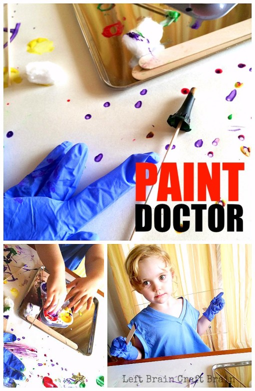A fun and easy painting project for kids inspired by the doctor's office. Perfect for when winter colds get you down.