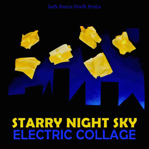 Create this starry night sky that lights up with real LED's and electric circuits.  Perfect for STEM education for elementary and preschool aged kids.