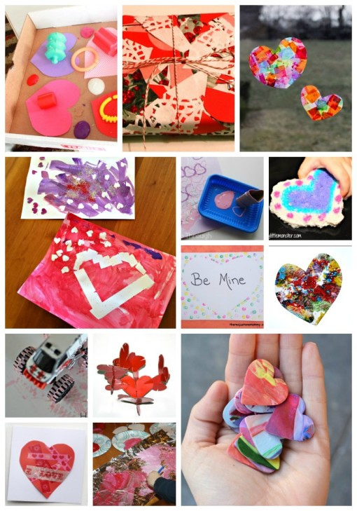 Valentine Process Art Collage 2 Left Brain Craft Brain