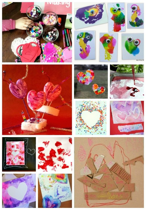 Valentine Process Art Projects Collage 1 Left Brain Craft Brain