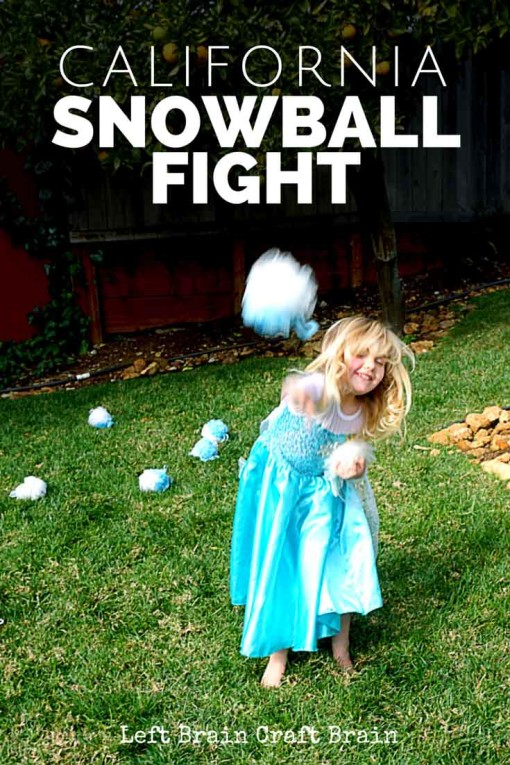 Have a fun snowball fight without the snow. It's a perfect activity for every day gross motor play or Frozen themed birthday parties.