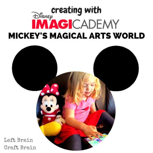 Creating with Disney Imagicademy Left Brain Craft Brain FB