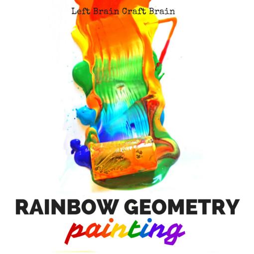 Rainbow Geometry Painting Left Brain Craft Brain FB
