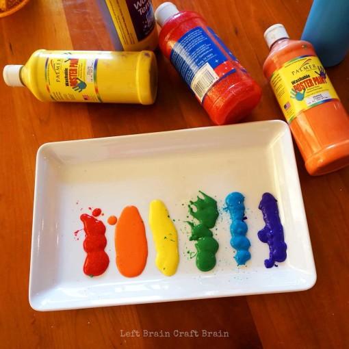 Rainbow Paint Left Brain Craft Brain