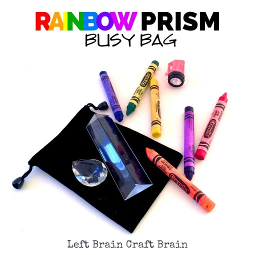 Rainbow Prism Busy Bag Left Brain Craft Brain FB