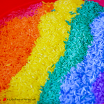 Sweet Smelling Rainbow Rice | A Little Pinch of Perfect