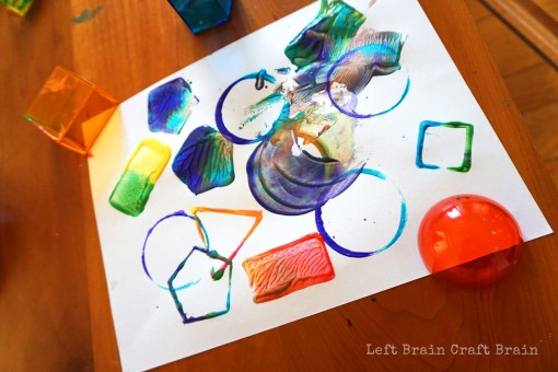 Rainbow Shapes Left Brain Craft Brain