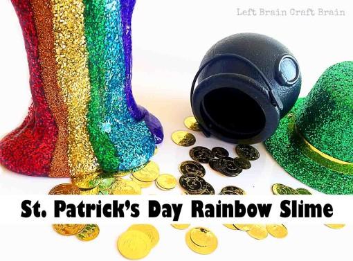 St Patrick's Day Play Rainbow Slime Left Brain Craft Brain FB