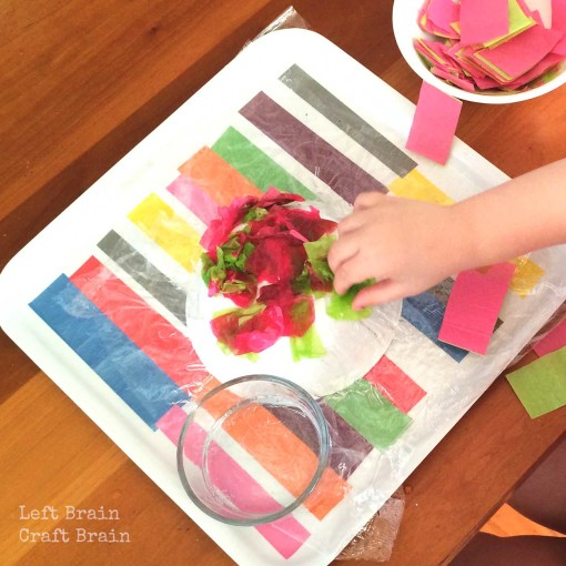 Tissue Paper Bowl Assembly Left Brain Craft Brain