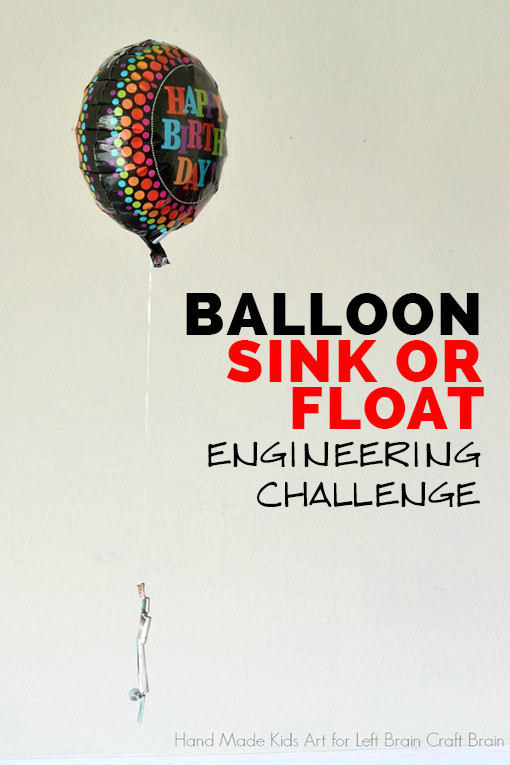 This balloon sink or float experiment is a fun and easy to setup engineering challenge for kids.  Perfect for STEM learning at home or classroom.