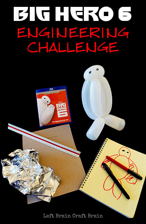 Your kids can become inventors and engineers, just like Hiro in Big Hero 6, by designing armor for Baymax.  It's a fun STEM / STEAM engineering challenge.