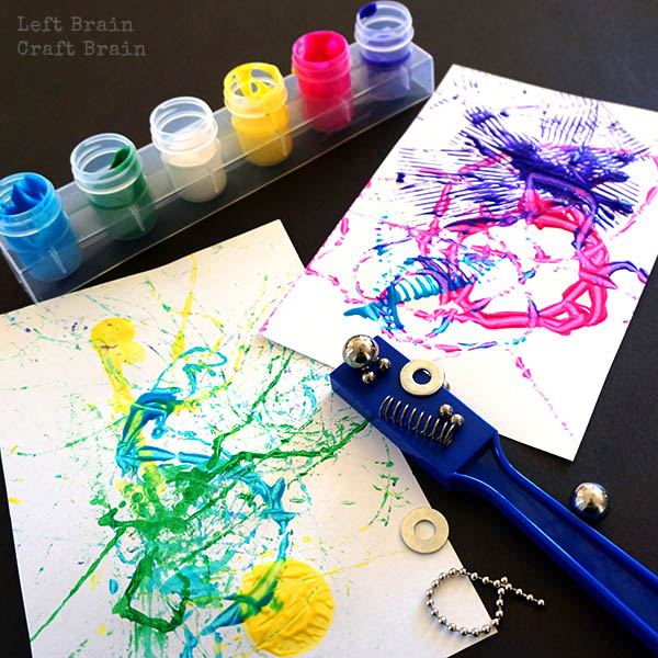 Magnet Painting STEAM Project for Kids