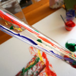 Tube Painting Gross Motor Art Project