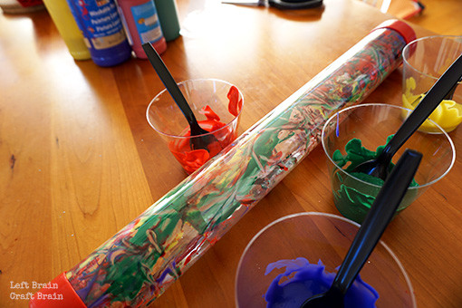 Tube Painting with Cups Left Brain Craft Brain