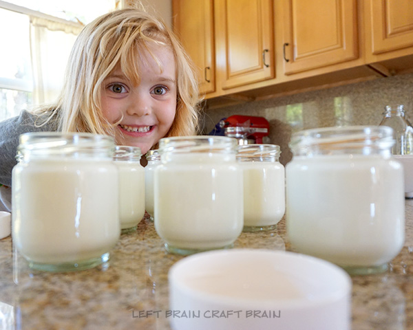Yogurt Jars Left Brain Craft Bran