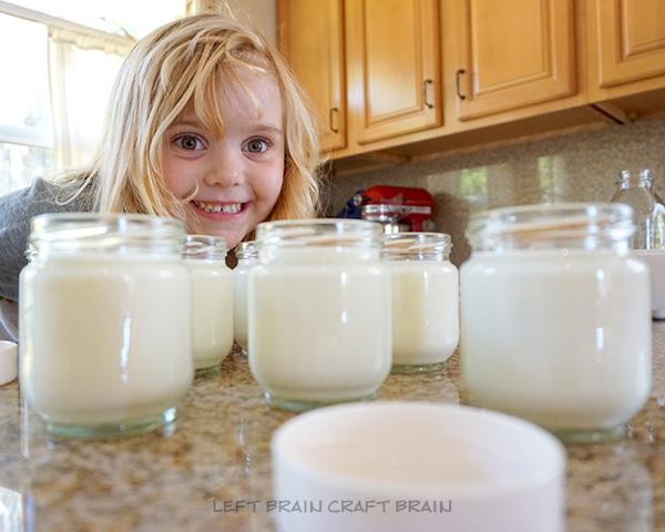 Yogurt Jars Left Brain Craft Bran