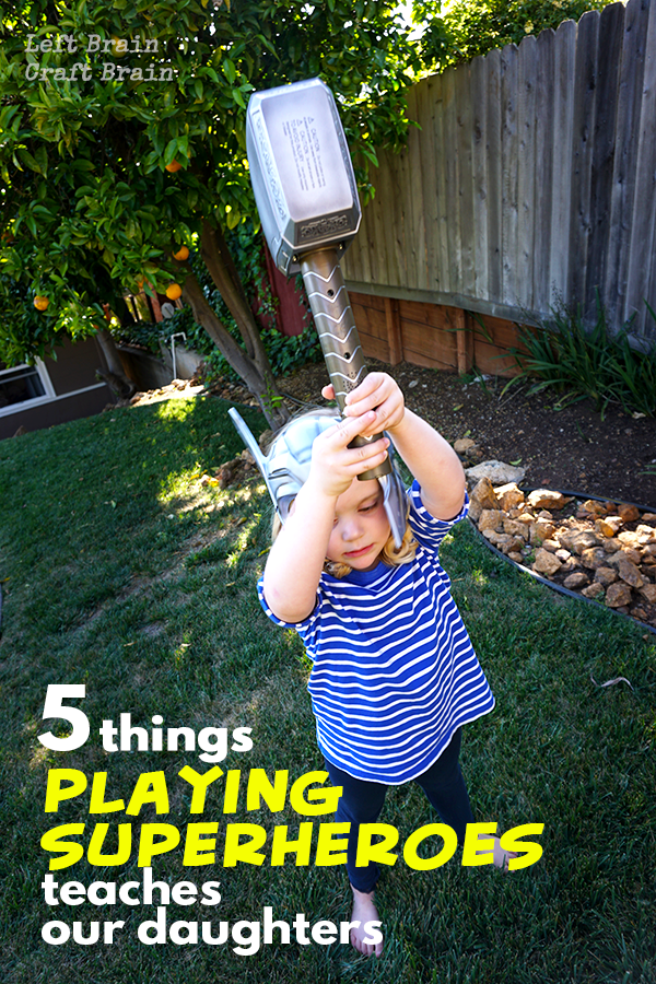 Playing superheroes teaches our kids that they can save the world. It's pretend play that makes a difference.