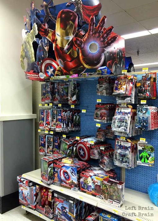 Avengers Walmart Left Brain Craft Brain