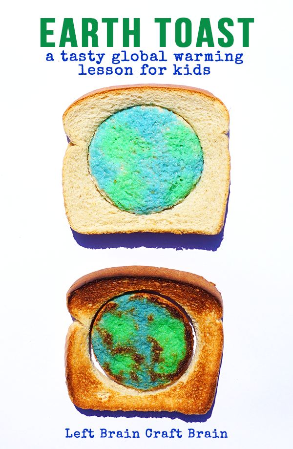 Earth Toast is a fun approach to a very serious topic. Global Warming. Help your kids understand what is happening to the earth and what we can do about it while you chat over a piece of toast.