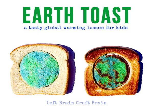 Earth Toast Global Warming Lesson Left Brain Craft Brain FB