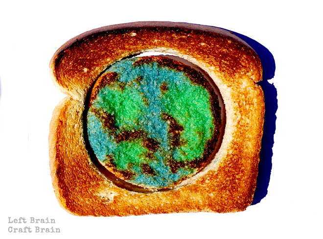 Earth Toast Global Warming Lesson Left Brain Craft Brain featured