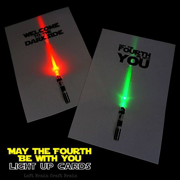 Light Up May The Fourth Be With You Cards Left Brain