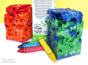 Milk Carton Crayon Ice Candles