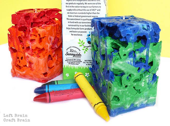 Milk Carton Crayon Ice Candles Left Brain Craft Brain