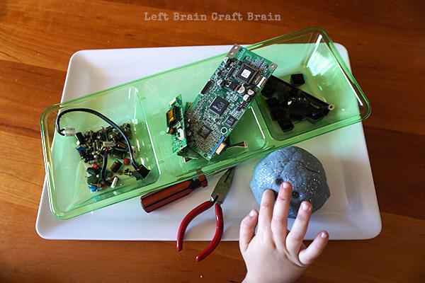 Robot Play Dough Supplies