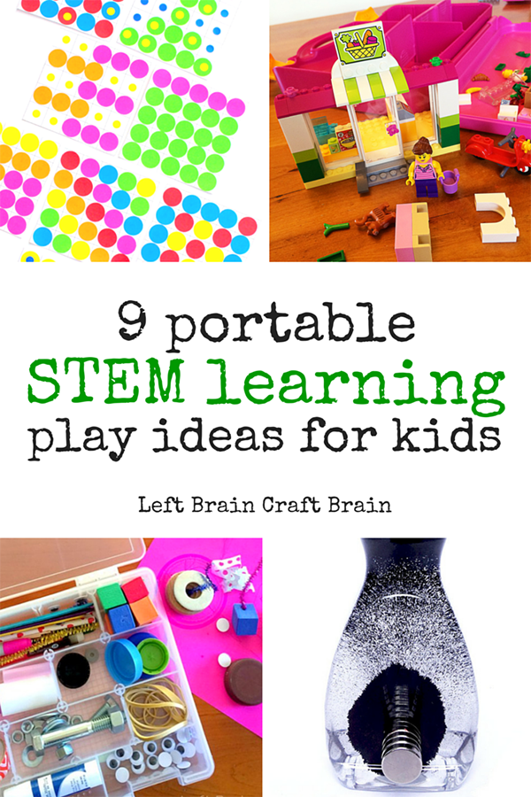 Take STEM learning fun on the go with these 9 portable play ideas for kids.