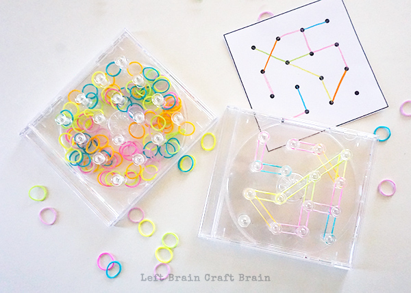 Clear Travel Geoboard Left Brain Craft Brain