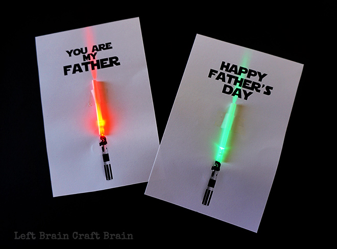 LightUp FatherS Day Cards  Left Brain Craft Brain
