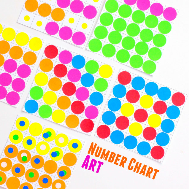 Number Chart Art Pink Stripey Socks