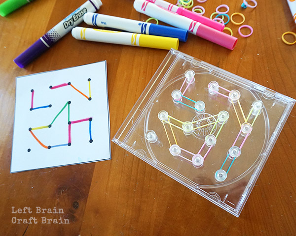 STEAM Camp: How to Make a CD Case Travel Geoboard - Left Brain Craft ...