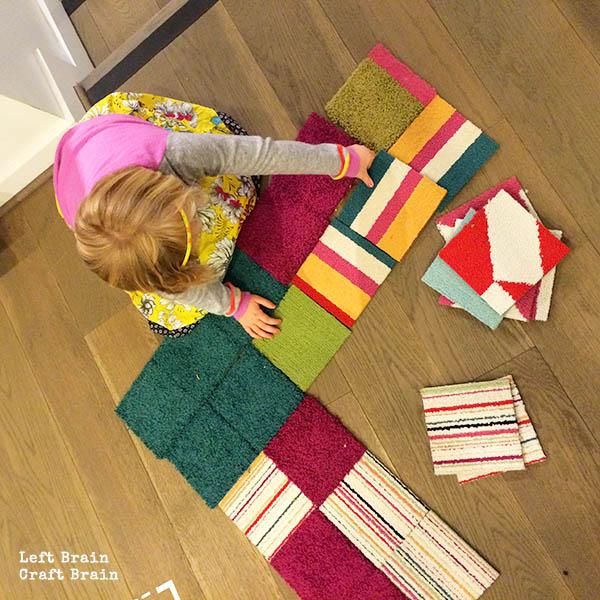 putting rug together