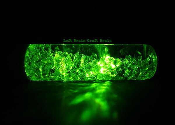 Green Horizontal Light Bottle LBCB2