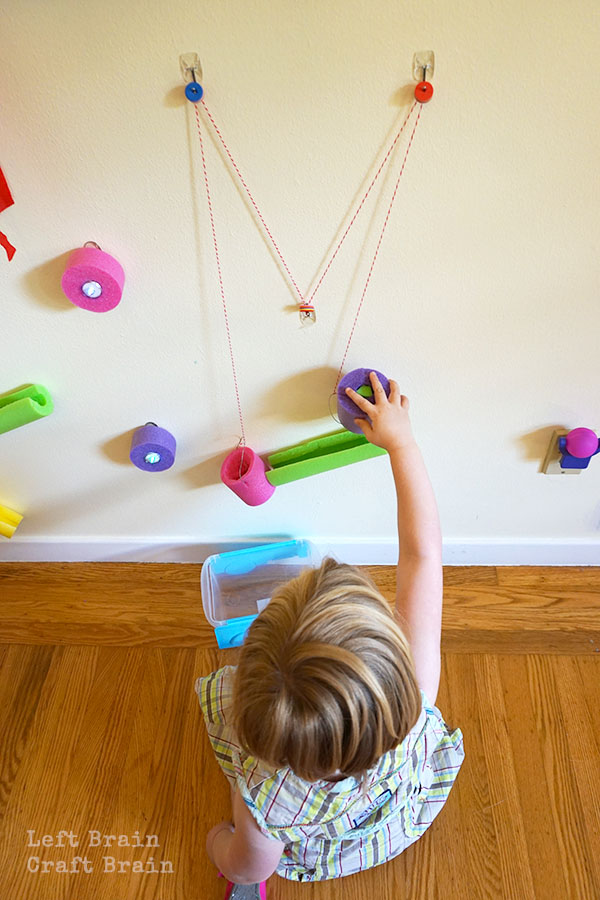 Awesome Pool Noodle Engineering Wall For Kids Left Brain