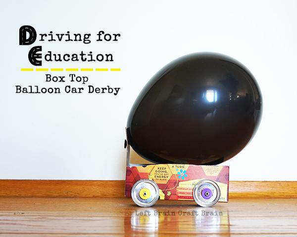 Box Top Balloon Car Derby Left Brain Craft Brain FB