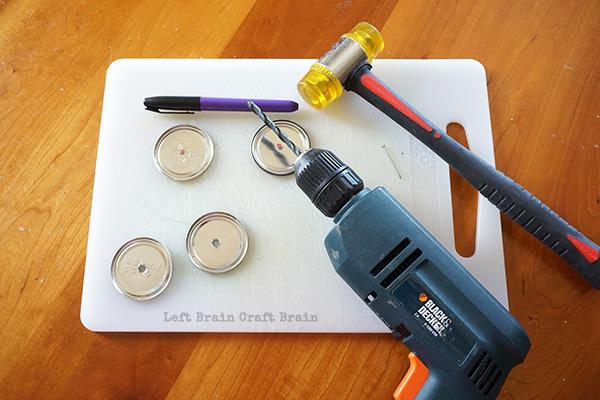 Drilling the Wheels Left Brain Craft Brain