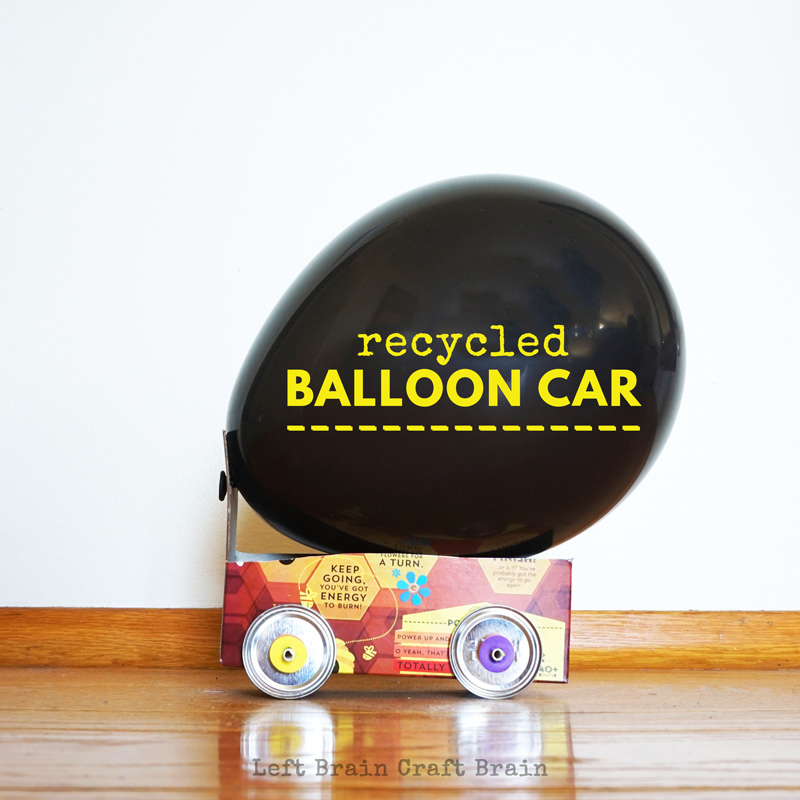 Recycled balloon car