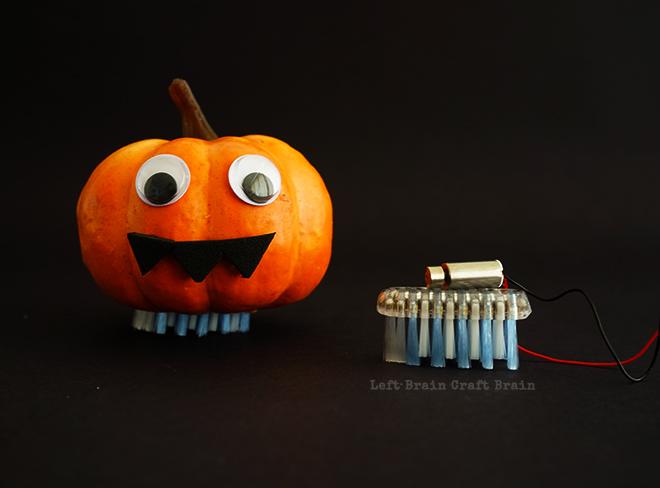Halloween Pumpkin Brush Bots