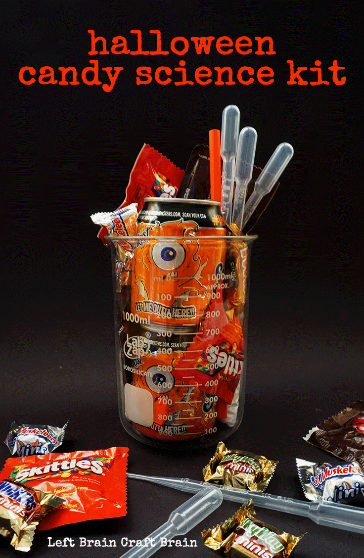 Give someone the gift of science on Halloween with this sweet fun candy science kit.