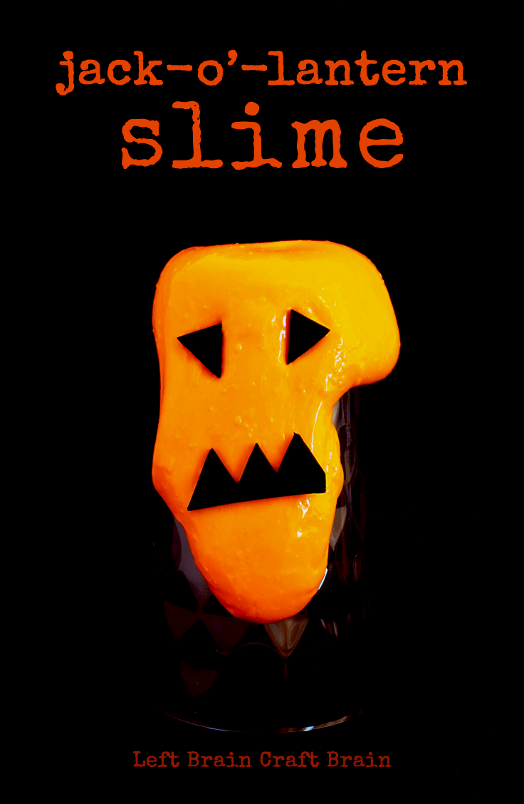 Make this silly and simple jack-o'-lantern slime for Halloween activities or parties. It makes a great party favor too!